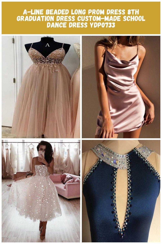 A-Linie Perlen langes Abendkleid 8. Graduierung Kleid maßgeschneiderte Schule Tanz …   – harvey