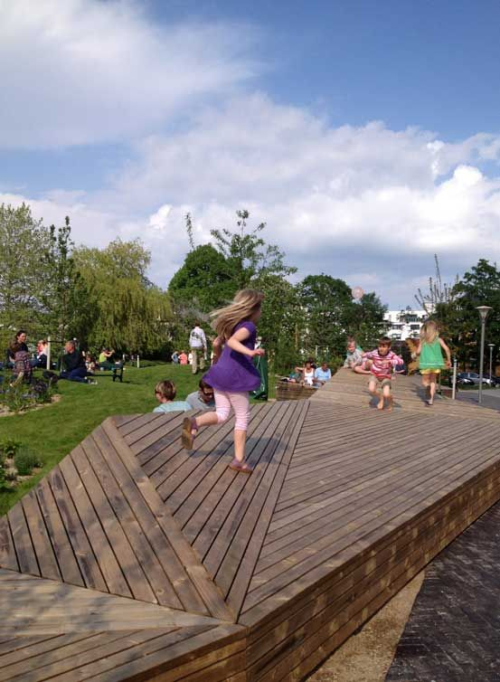 The New City Garden In Valby Offers Lush Green Hills