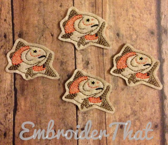 Exclusive Rowdy Red Fish felt applique by EmbroiderThat on Etsy, $4.25