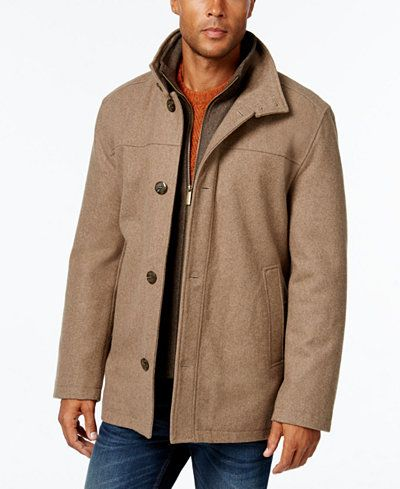 London Fog Men's Wool-Blend Layered Car Coat | Coats, Shops and Cars