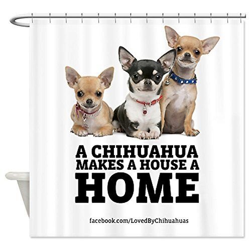 Cafepress Home With Chihuahuas Shower Curtain Decorative Fabric