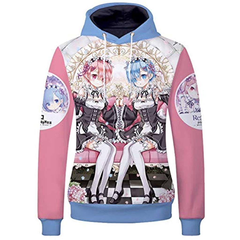 Cosstars Fairy Tail Anime Hoodie Sweat /à Capuche Adulte Cosplay Pullover Sweatshirt Manteau Tops
