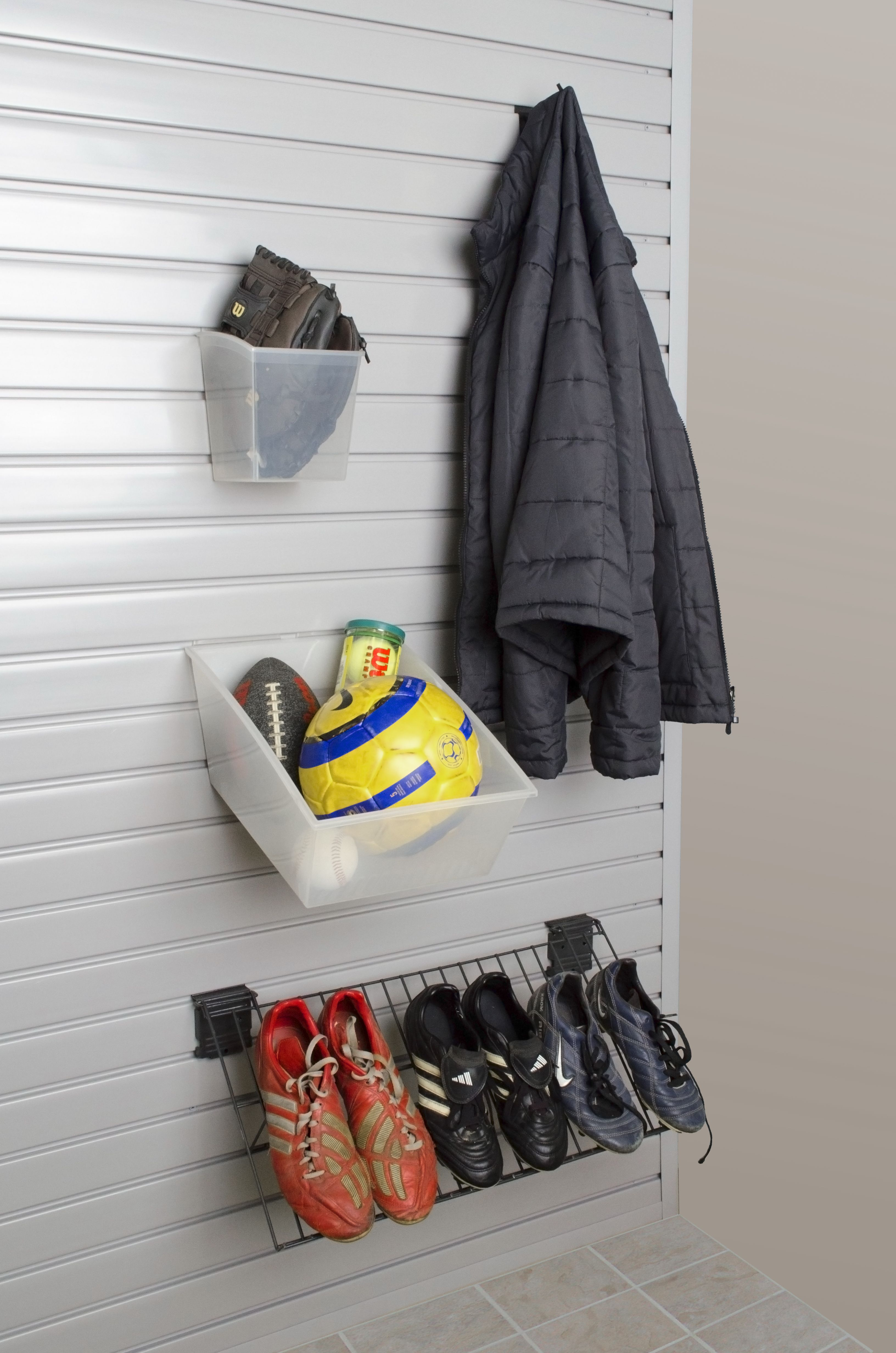 When all of the sports start back up, use the mudroom to make sure all their equipment is right where they need it instead of sprawled across the floor.