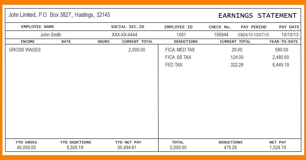 Pay Stub Is Simple Document Like A Pay Clip That Is Issued By Employer To Employee This Covers All Informatio Payroll Checks Payroll Template Invoice Template