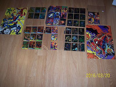 1995 #marvel fleer #ultra #spiderman card set all chase cards - uncut promo ,  View more on the LINK: 	http://www.zeppy.io/product/gb/2/361515564555/