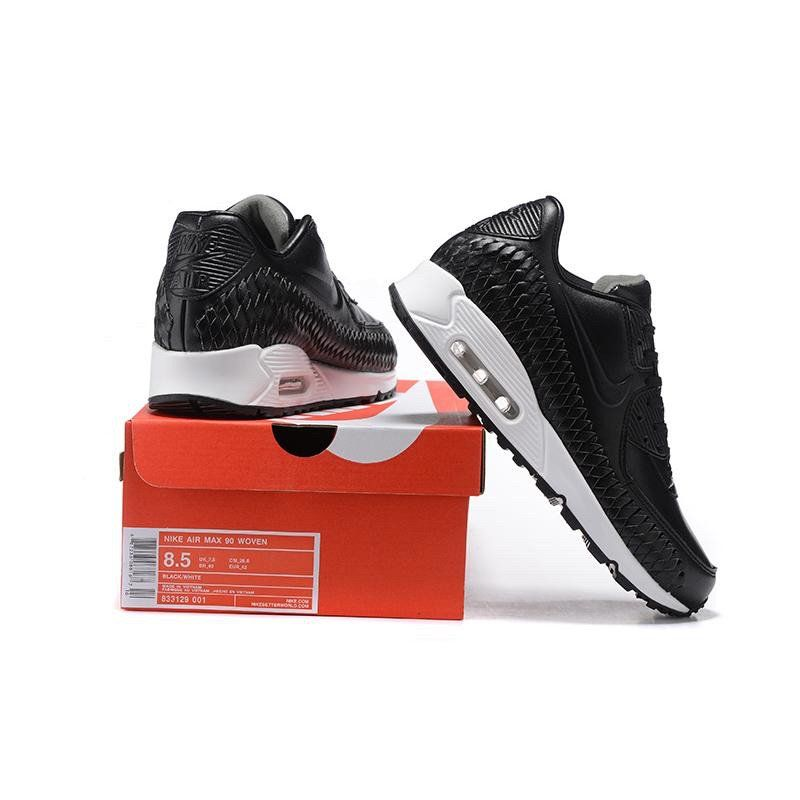 outlet store 97d0f ad446 NIke Air Max 90 Woven Black   White 833129 003