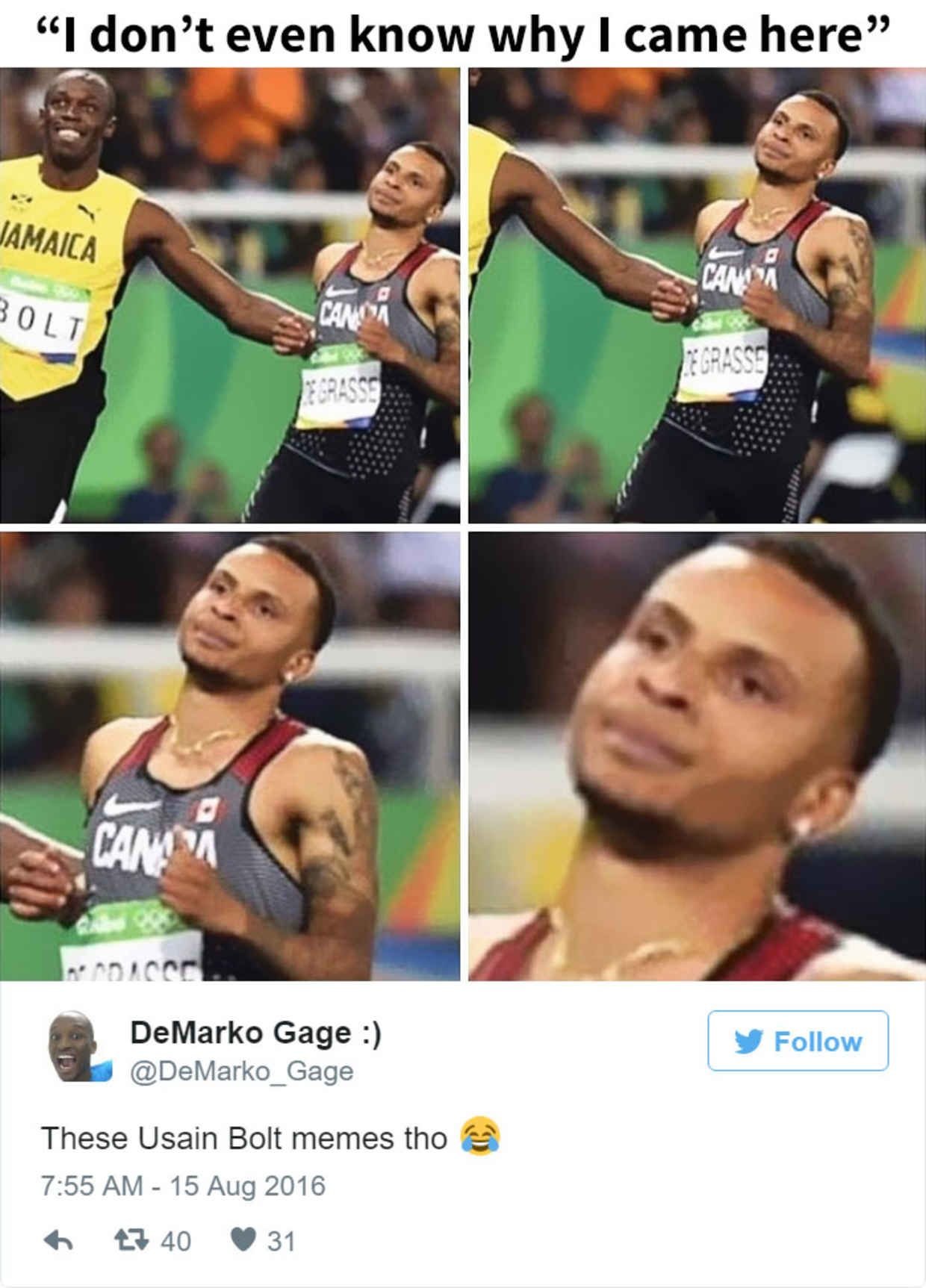 Hilarious Reactions To Usain Bolts Winning Photo Finish In Rio
