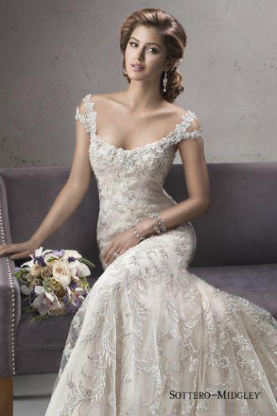 Beaded Off the Shoulder Wedding Dresses