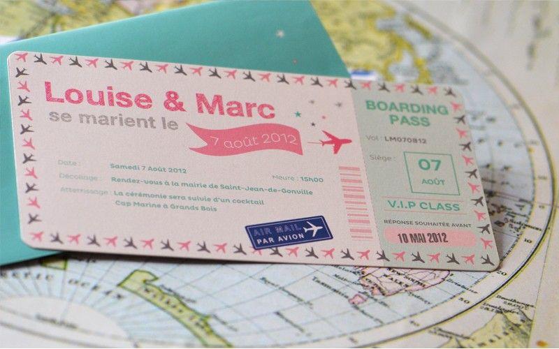 faire part mariage billet avion vintage latelierdelsacom mariage pinterest mariage vintage and destinations - Faire Part Mariage Billet D Avion