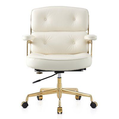 This Button Tufted Executive Office Chair Combines Old World Craftsmanship With Modern Seating Principle Chic
