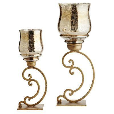 Mercury Scroll Hurricanes Vase Candle Holder Candle Holders Nautical Decor