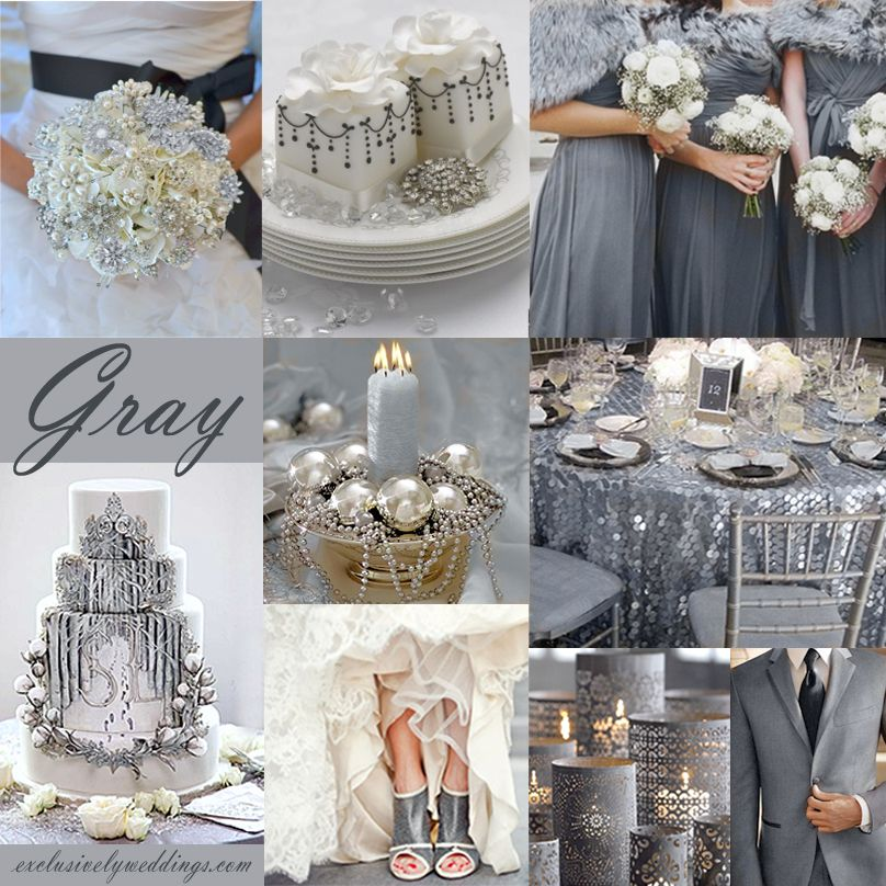 Gray Wedding Color -The New Neutral | Gray wedding colors, Grey ...
