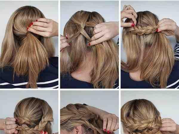 خطوات عمل تسريحة للمناسبات بسيطة وسهلة شعر تسريحات صوره رقم 13 Easy Braided Updo Hair Hair Styles