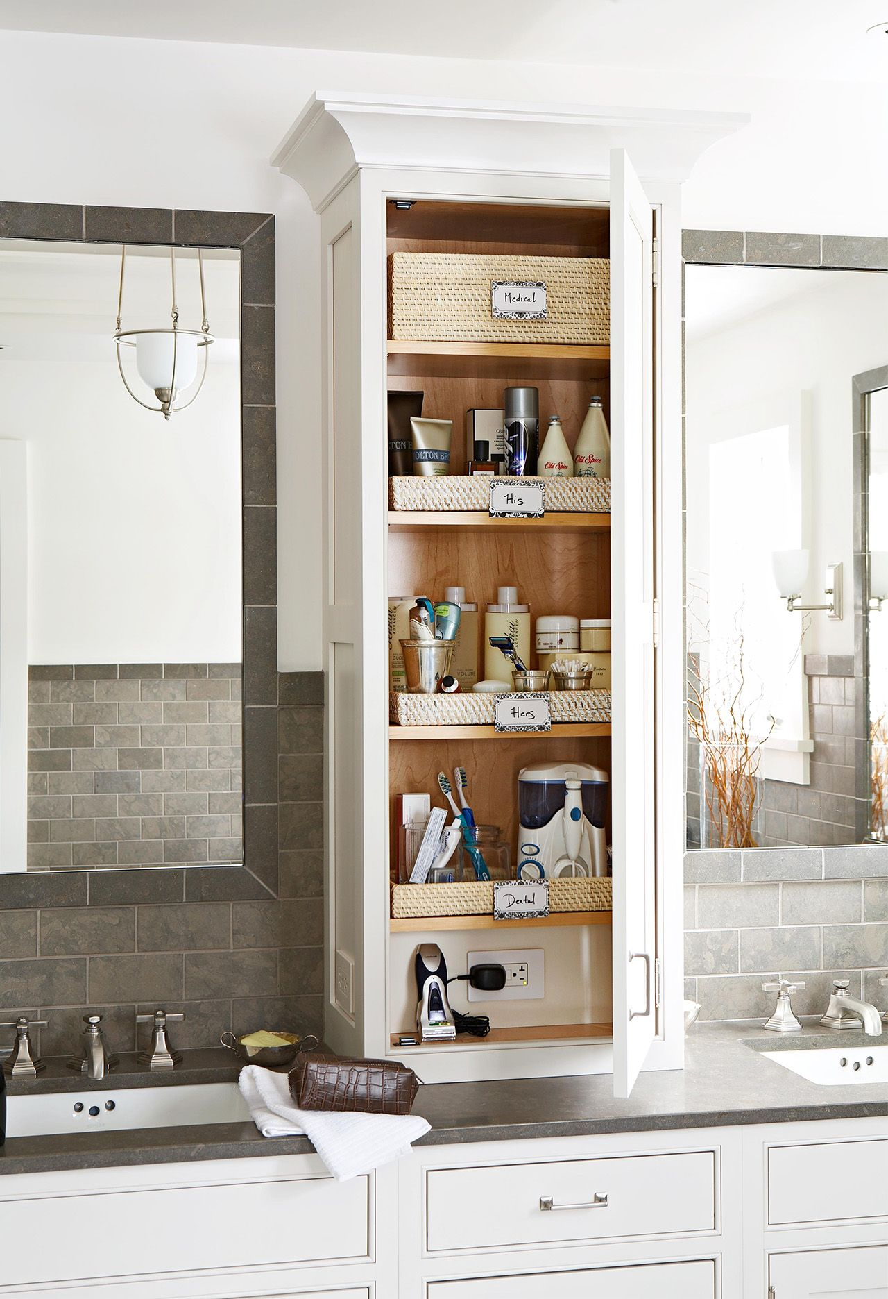 19 Clever Ways To Organize Bathroom Cabinets For A Quicker Morning Routine In 2020 Cheap Bathroom Remodel Organize Bathroom Countertop Bathroom Vanity Storage