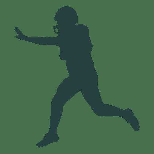 American Football Player Pushing American Football Players Football Silhouette Football Players