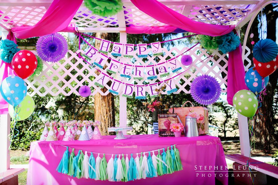 Gazebo Decoration for outdoor birthday party