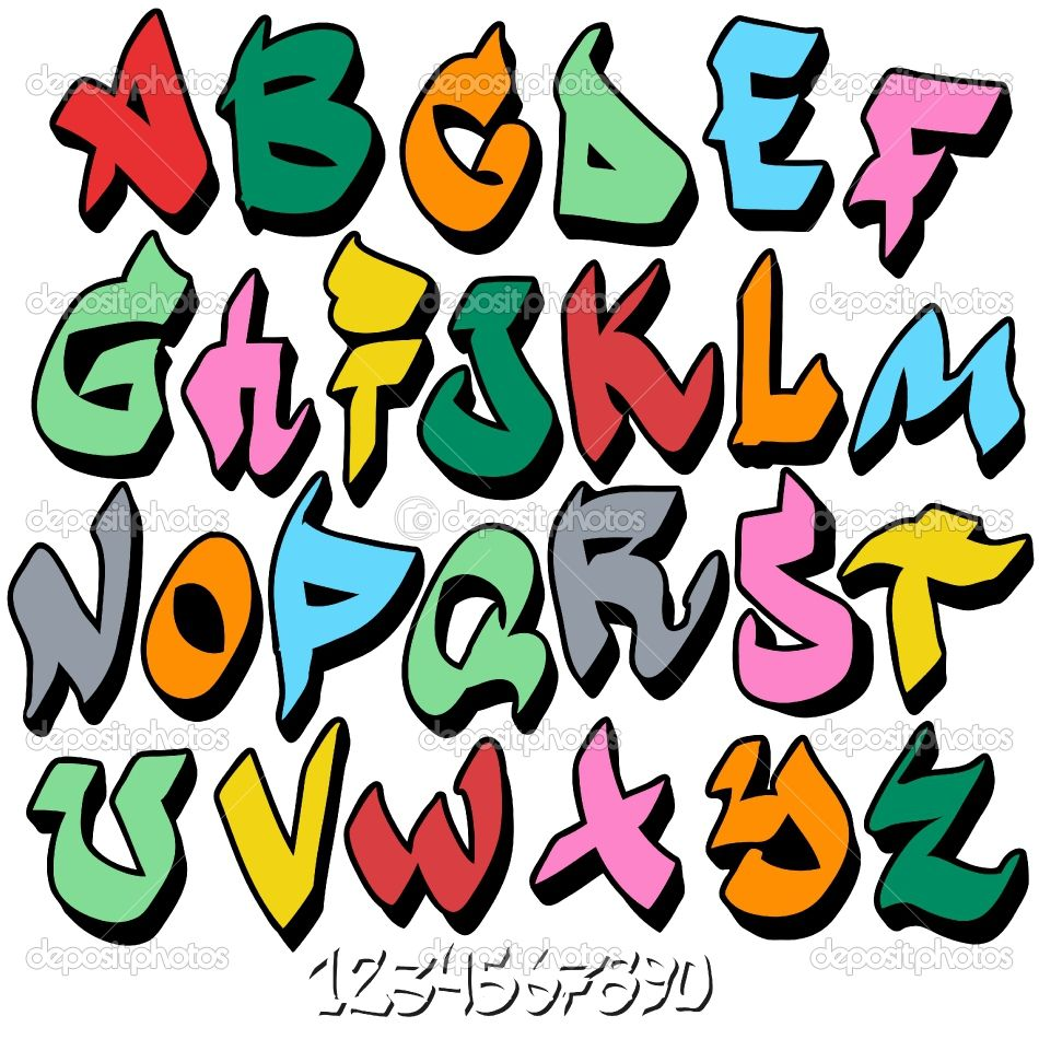 Depositphotos 7796727 Graffiti Font Alphabet