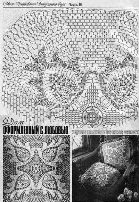 Patrones de puntillas y almohadones en crochet filet | ganchillo ...