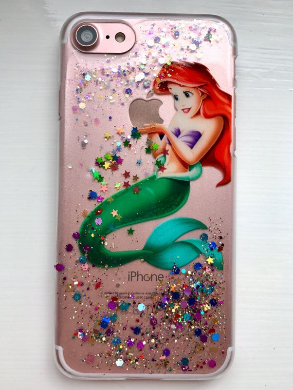 Ariel Disney Glitter Case The Little Mermaid Iphone 8 7 6 Plus