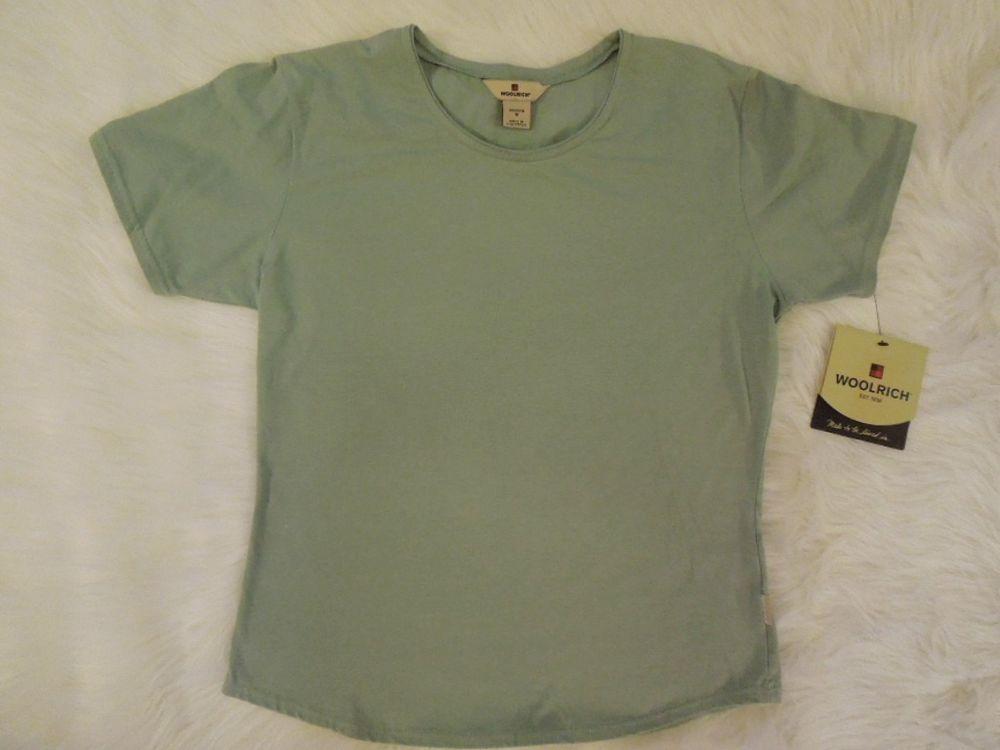 Women Sz M/L #Woolrich #Kalista #Tee #MintGreen #T-Shirt #Stretch #ShortSleeve #WomensTops