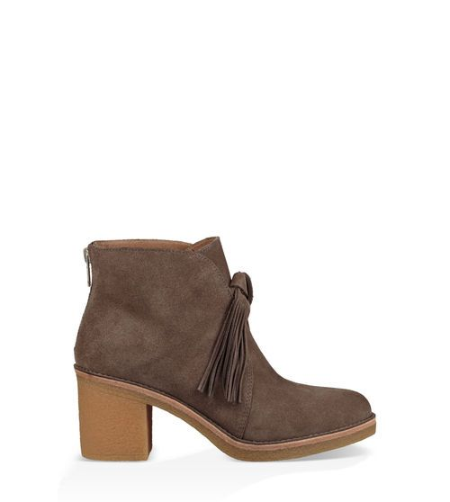 UGG Women's Corin Suede Ankle Boot With Fringe In Mouse