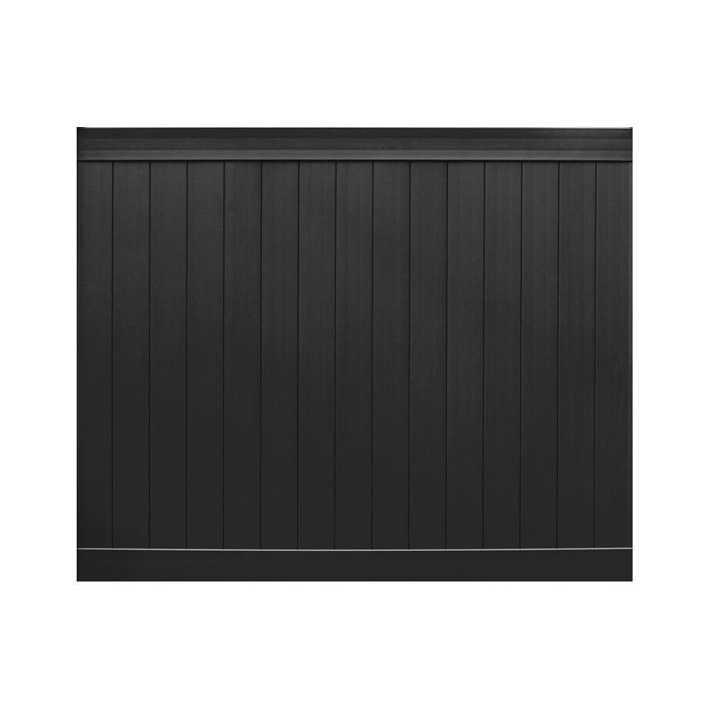 Veranda Pro Series 6 Ft H X 8 Ft W Black Vinyl Anaheim Privacy Fence Panel Unassembled 153571 The Home Depot Vinyl Privacy Fence Privacy Fence Panels Fence Panels