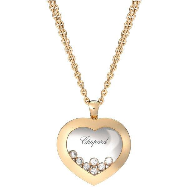 CHOPARD Happy Diamonds Icons 18ct rosegold and diamond pendant