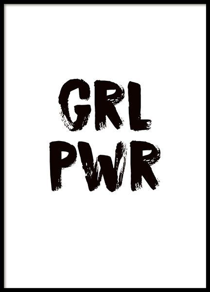 girl power poster in the group posters prints fashion at desenio ab 8835 quotes. Black Bedroom Furniture Sets. Home Design Ideas