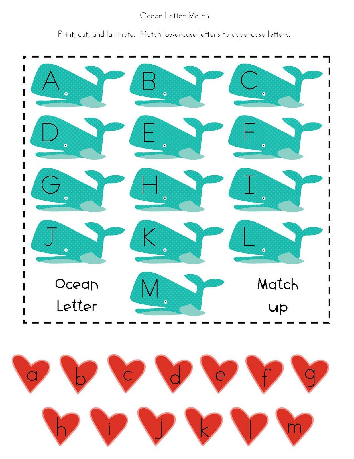 Free Printable Ocean Themed Activities for Preschoolers. | School ...