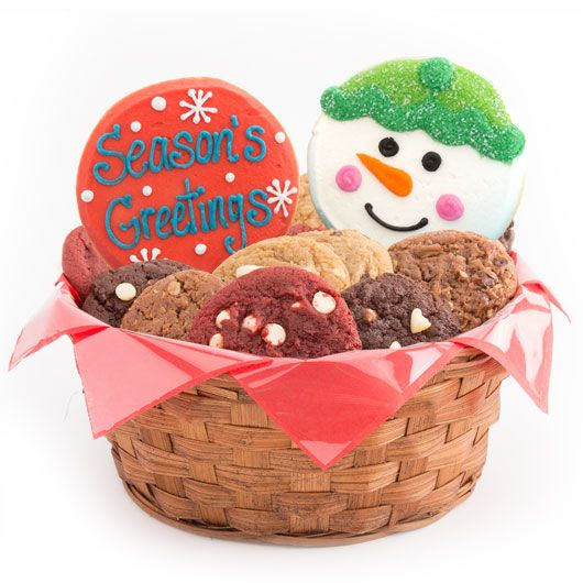 Christmas Cookie Basket Holiday Cookie Gift Cookies By Design