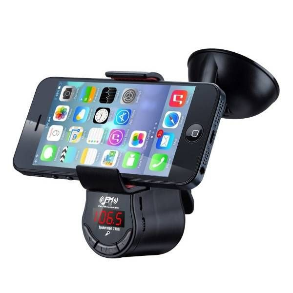 Oupin FM800 Car MP3 Multifunction Music Player FM Transmitter Phone GPS Holder Hands Free Cell Phone