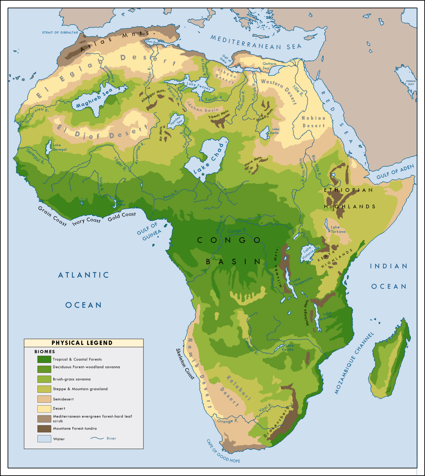Seas Of The Sahara Maps Charts Pinterest Africa Map