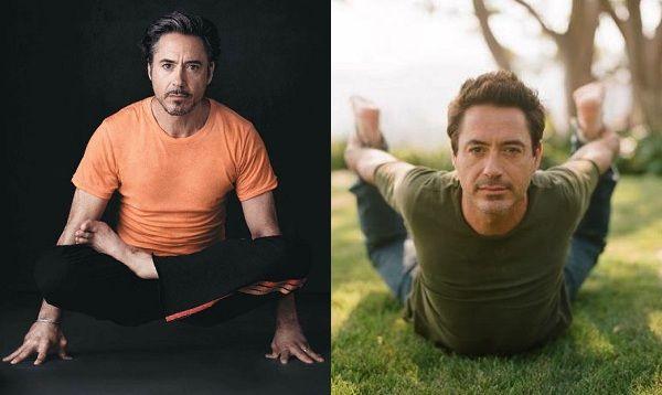 Robert Downey Jr and Yoga by mindbodygreen #Men #Yoga #Robert_Downey_Jr