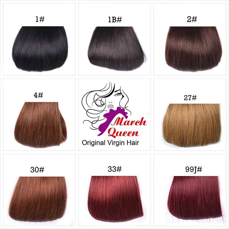 4 Bundles Straight Hair Color Human Hair Weave Hairstyles 8 Colors