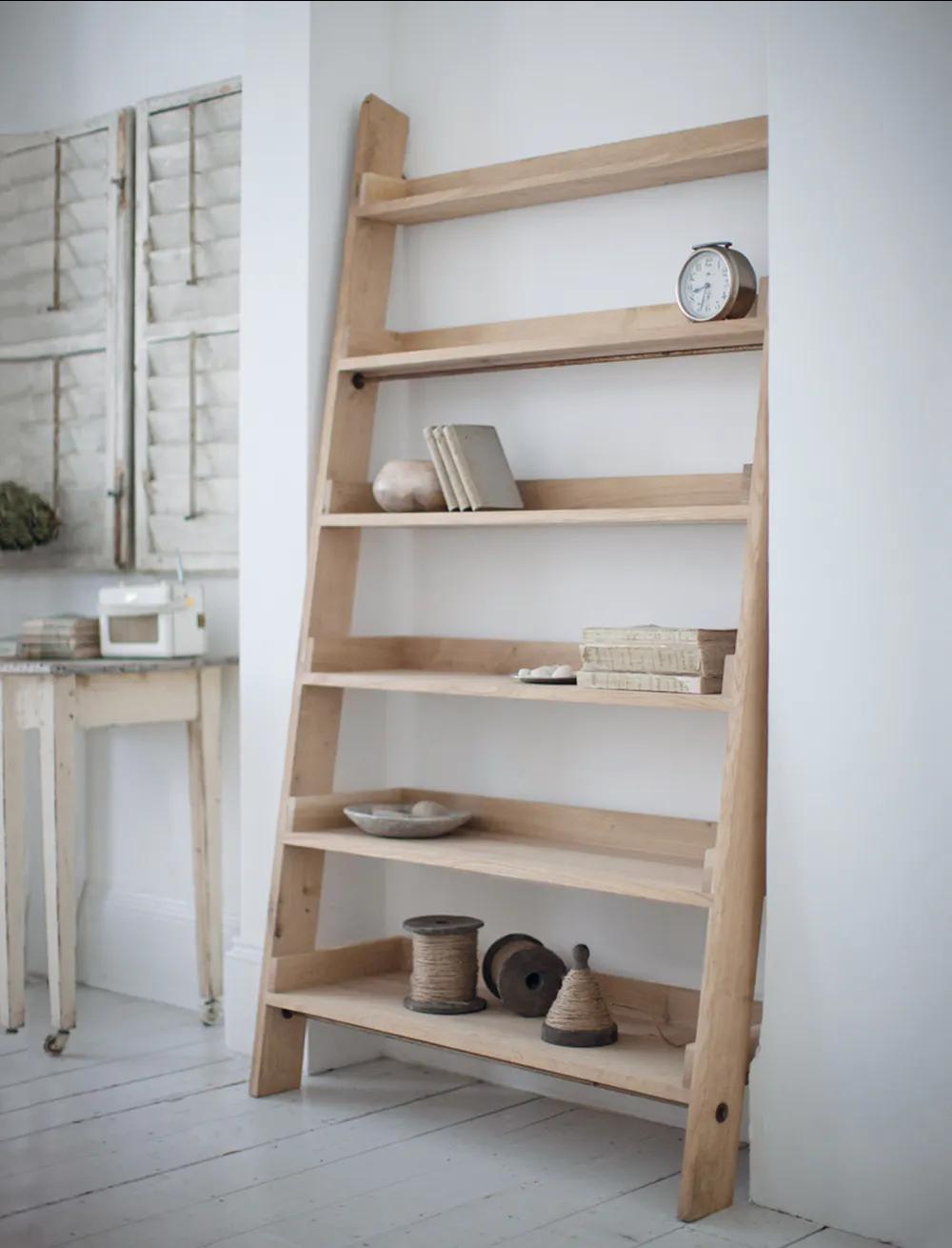 Hambledon Shelf Ladder In 2020 Oak Shelves Shelves Home Furniture