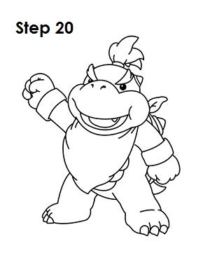 How to Draw Bowser Jr. | Bowser