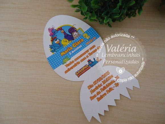 Convite Personalizado Galinha Pintadinha