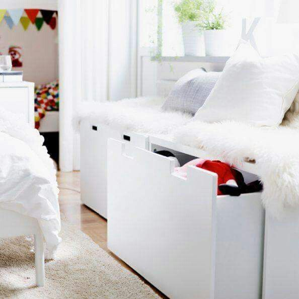 Ikea STUVA bench  Childrens room Pinterest Bench hack