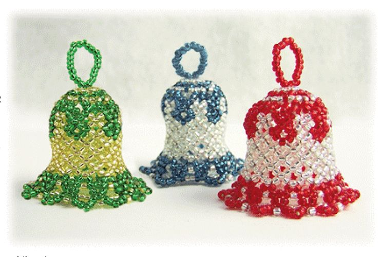 Beaded christmas bell ornament pattern bead patterns