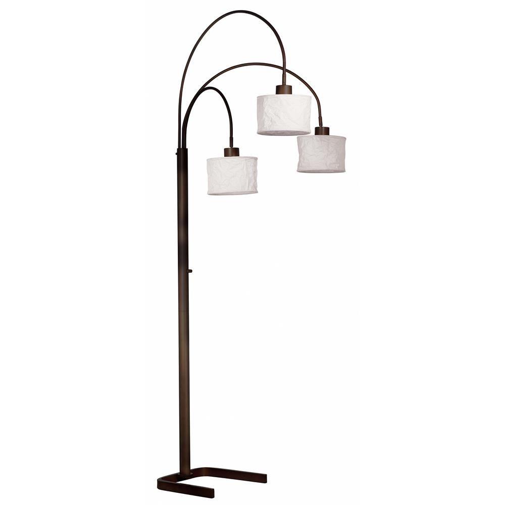 30674orb Kenroy Home 30674orb Crush 3 Light Arc Lamp In Oil Rubbed Bronze Finish Three Light Floor Lamp Arc Floor Lamps Arc Lamp