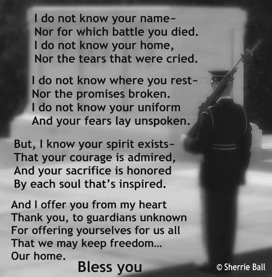 Respect and appreciate all veterans
