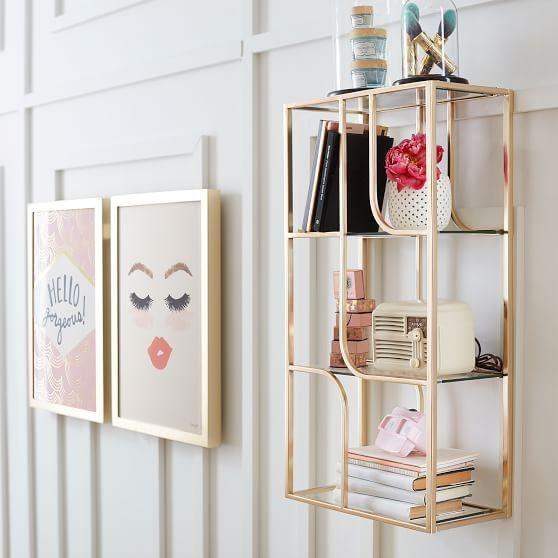 Benefit Gorgeous Glass Shelves -   24 glass shelves decor ideas
