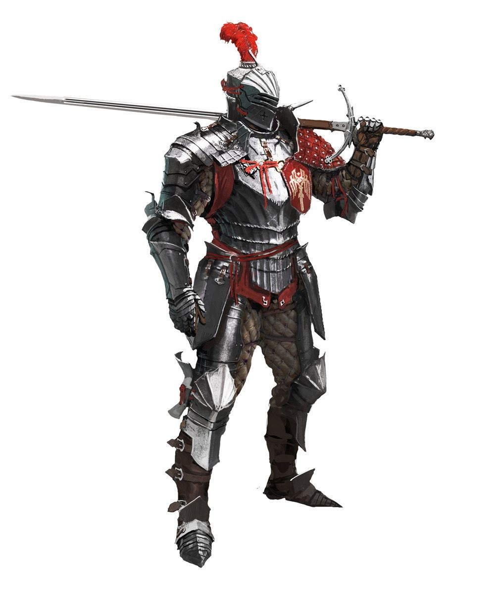 Corporals of Hamdreign often have fine armor, and display their allegiance to their faith, or the baron that they serve under.