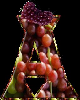 Alfabeto Decorativo: Alfabeto - Uva - PNG - Maiúsculas e Minúsculas - D...