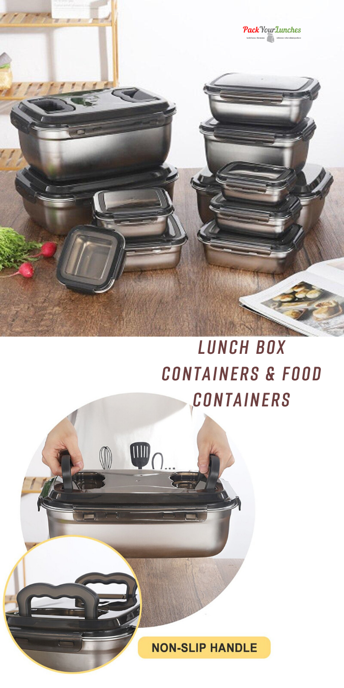New Lunch Box Stainless Steel Food Container Lunch Box