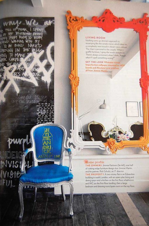 Bright, bold home decor with a French twist