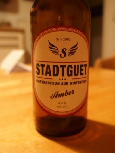 Stadtguet Amber Beer From Winterthur #switzerland