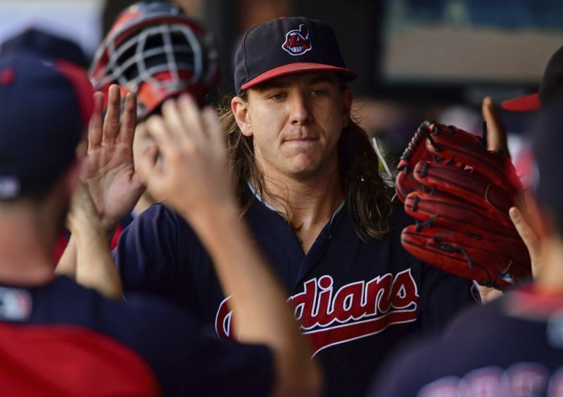 Cleveland Indians First Team In Mlb To Have 4 Pitchers With 200 Strikeouts In A Single Season Cleveland Indians Cleveland Indians Baseball Youth Baseball Gloves