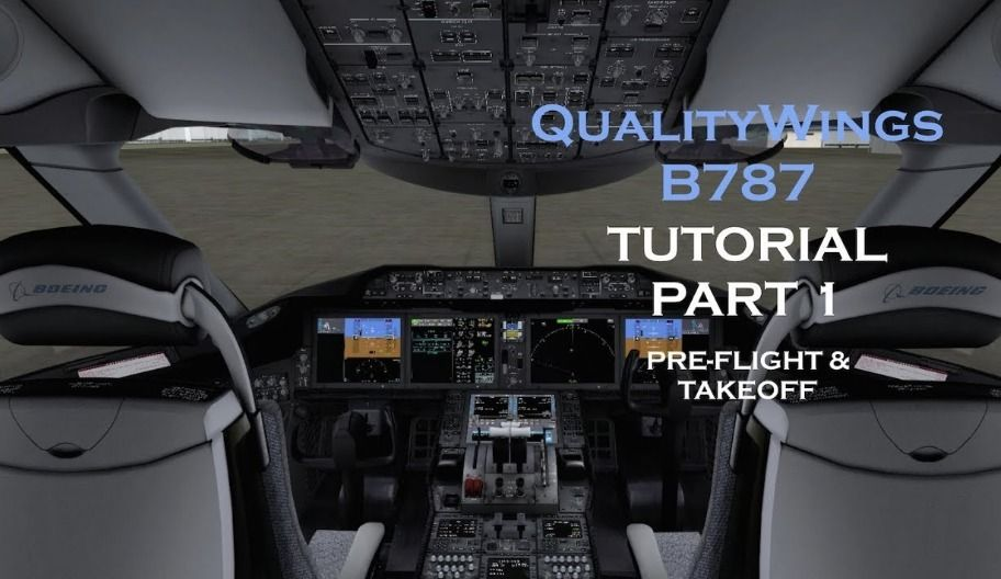 This is a basic tutorial on how to setup the QW 787 for a flight