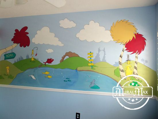 Dr Seuss Wall Decor dr seuss nursery wall murals | dr seuss nursery | pinterest